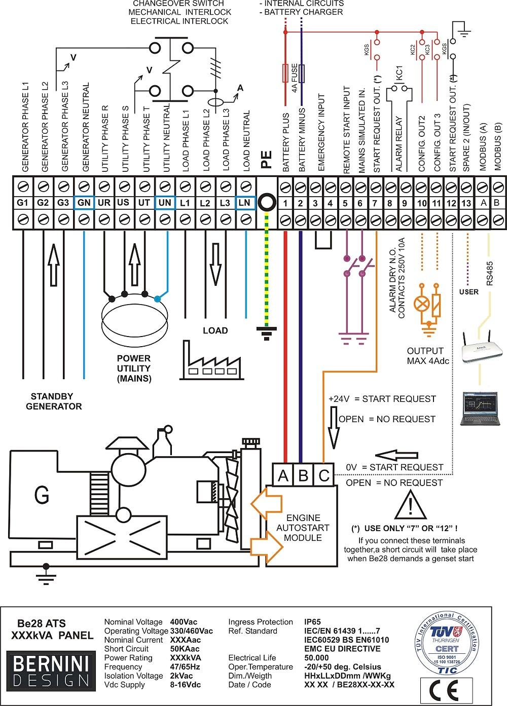 WRG-5771] Rts Transfer Switch Wiring Diagram on