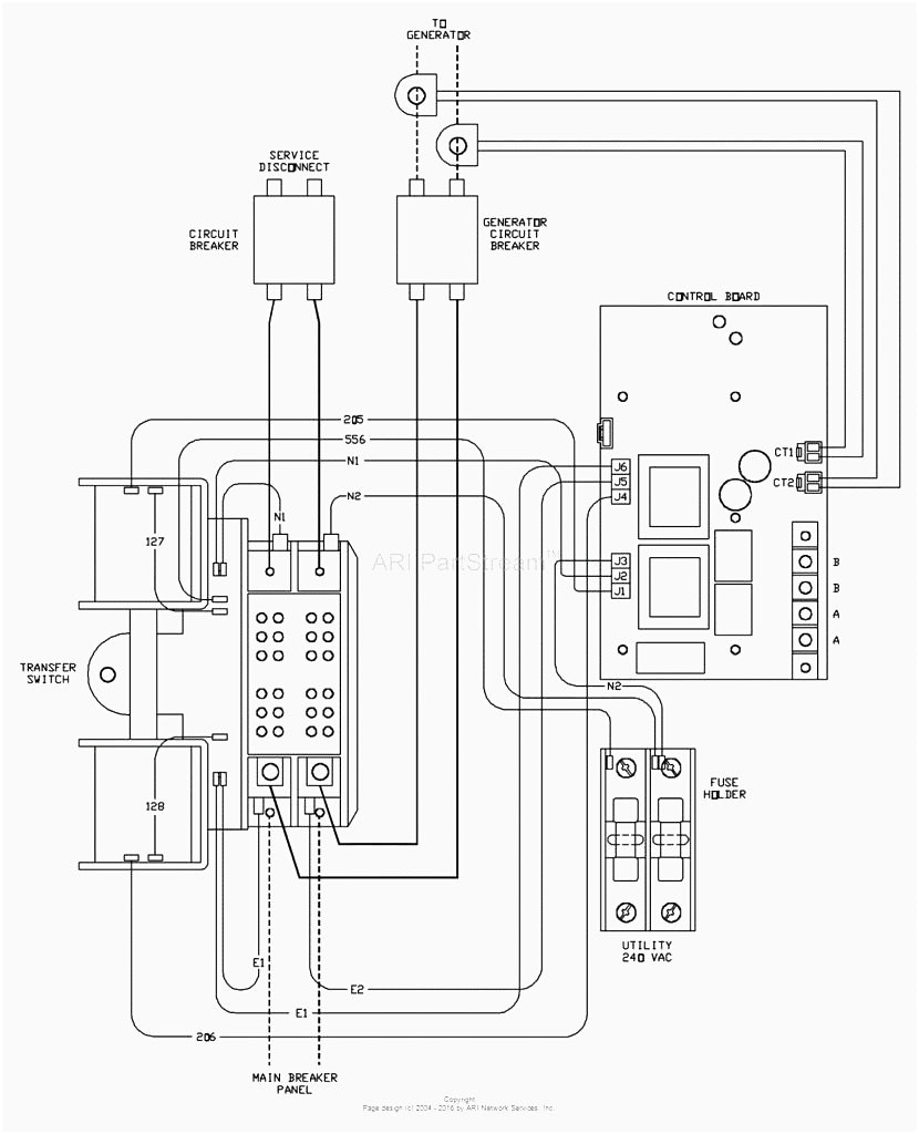 Diagram Collection Of Generac Rts Transfer Switch Wiring Diagram
