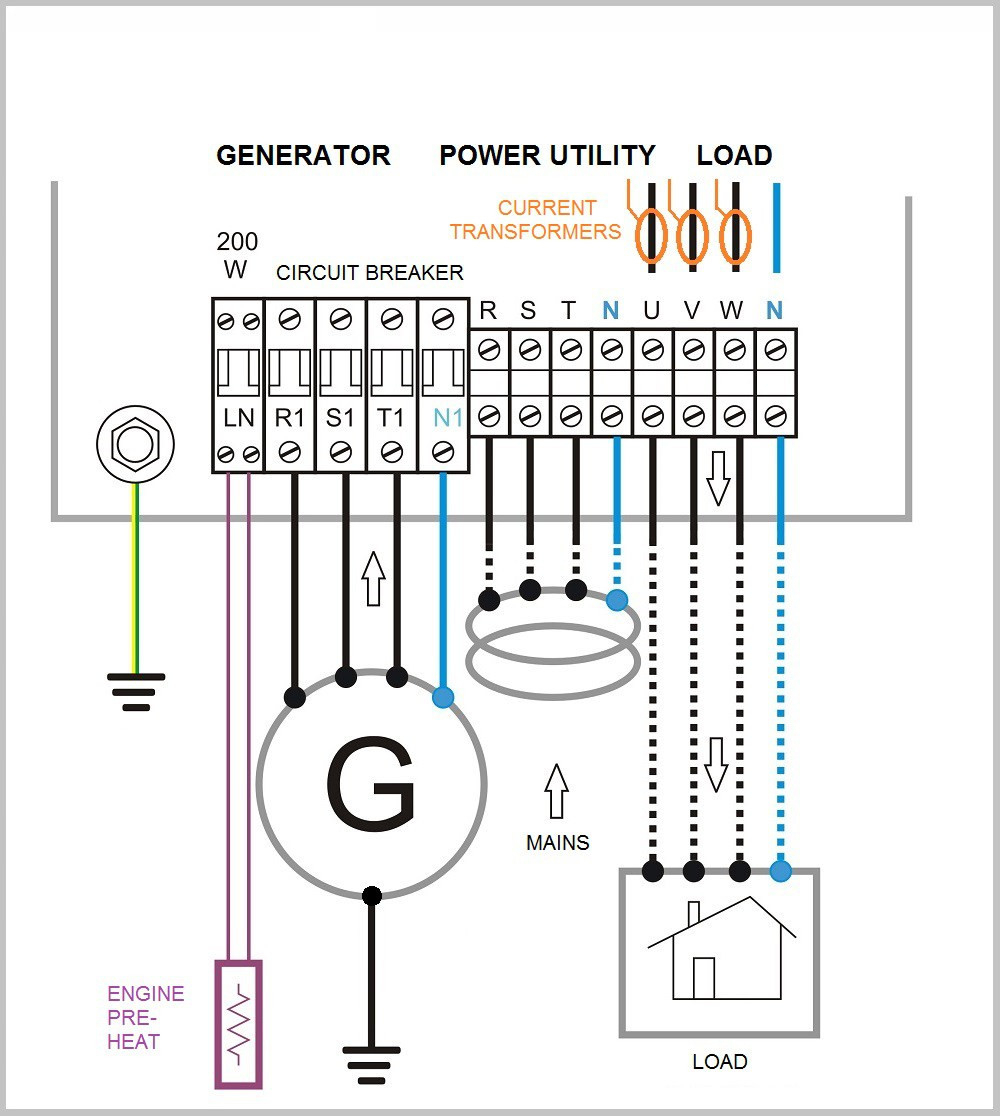 generator changeover switch wiring diagram download