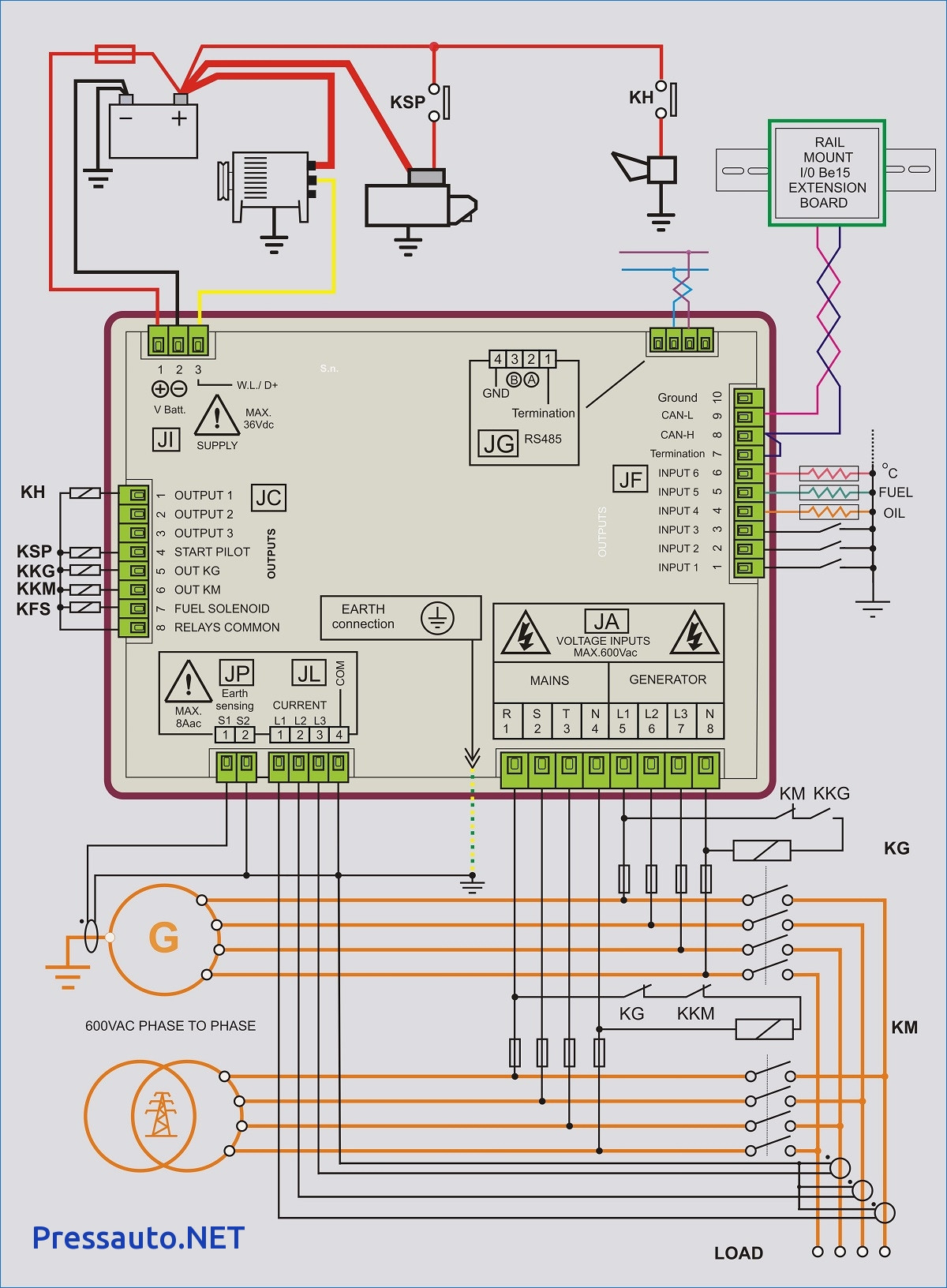 Generator Transfer Switch Wiring Diagram Collection on