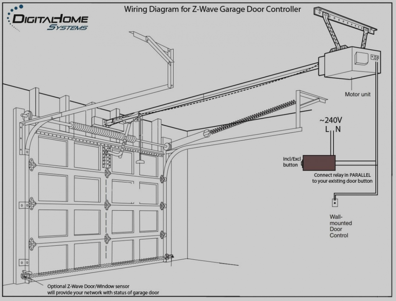 Genie Garage Door Opener Wiring Diagram Wikie Cloud