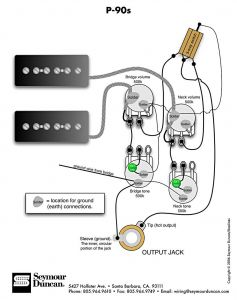 Gibson 335 Wiring Diagram - P 90s 2 Vol 2 tone &switch 11k