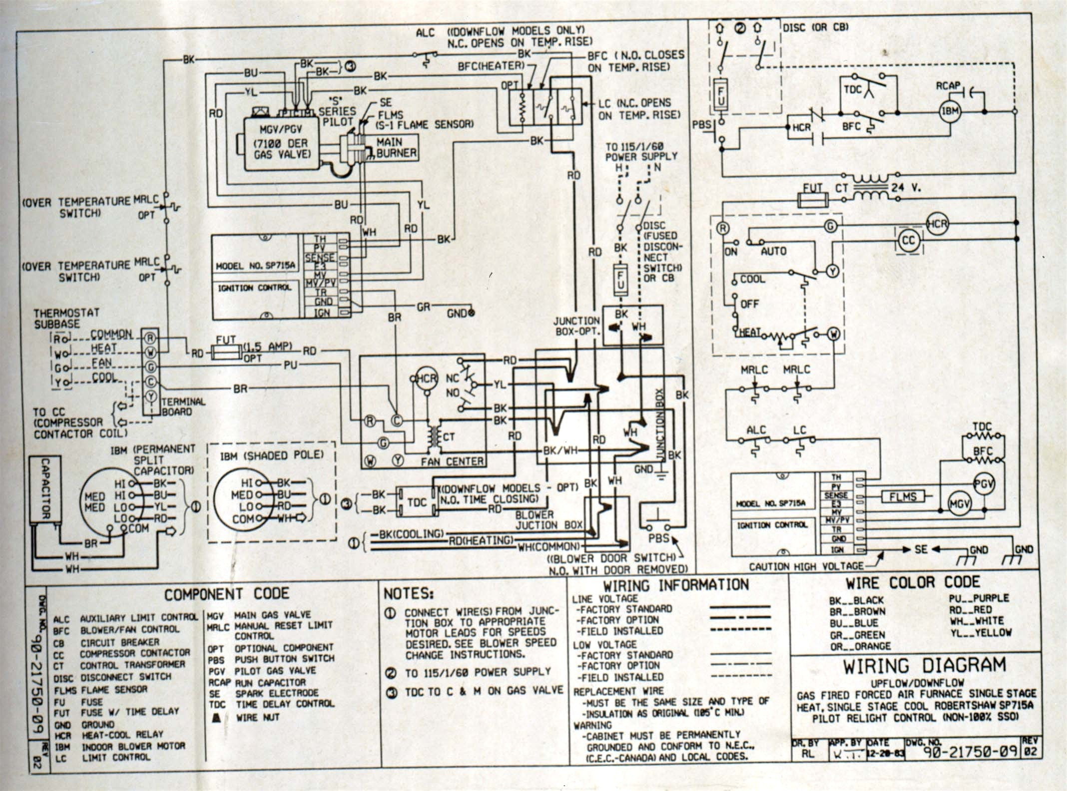 Diagram Goodman Heat Pump Wiring Diagram Gallery