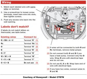 Honeywell Manual thermostat Wiring Diagram - Honeywell thermostat Wiring Diagram 20t