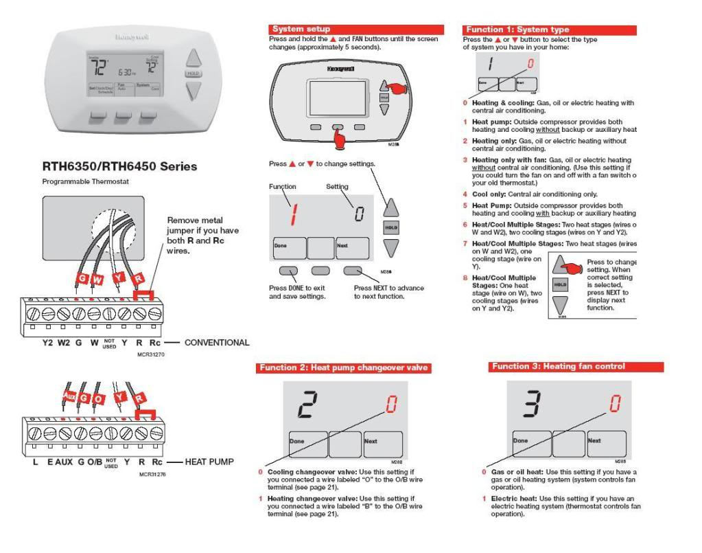 honeywell manual thermostat wiring diagram sample. Black Bedroom Furniture Sets. Home Design Ideas