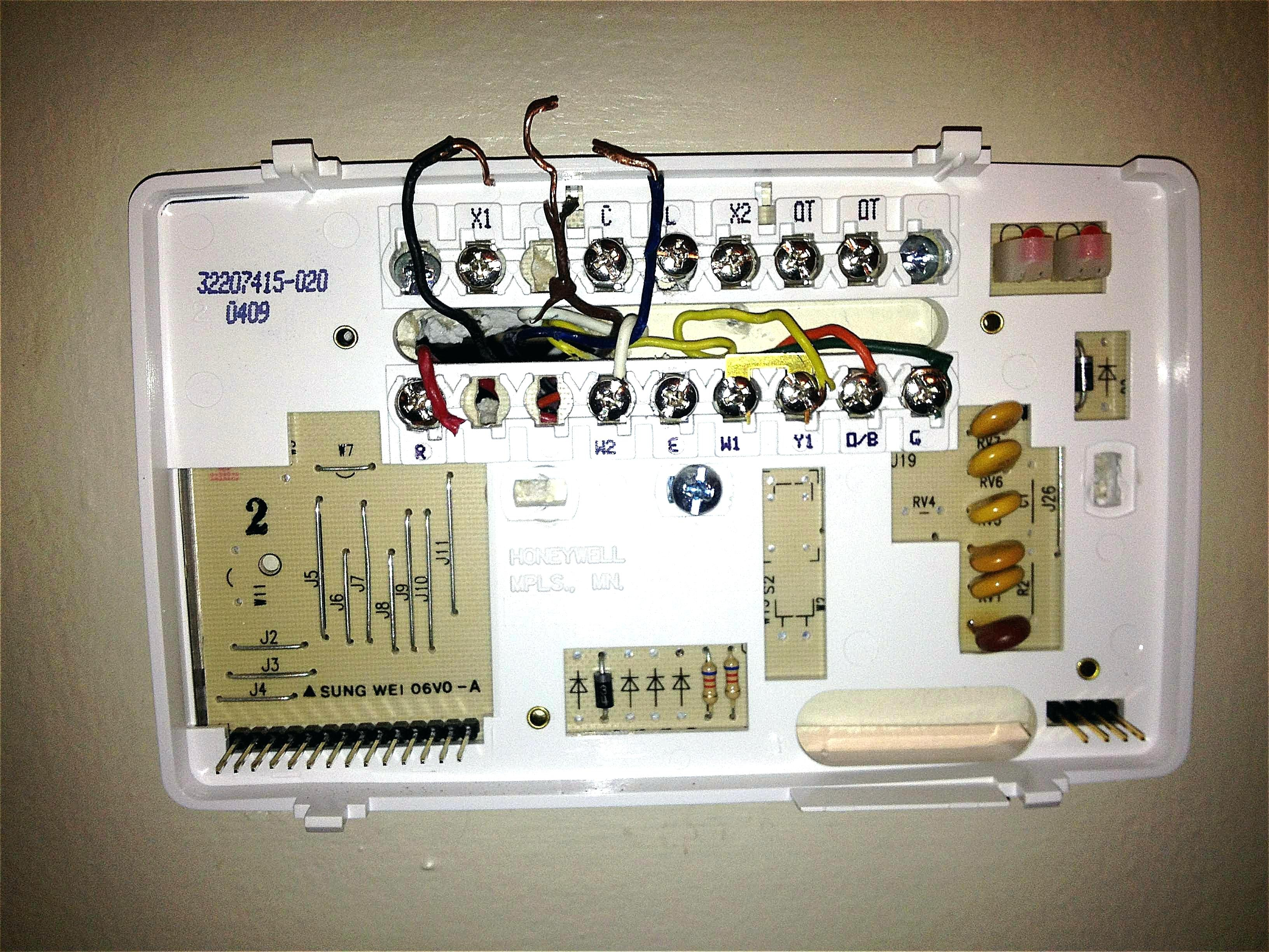 Honeywell Smart Thermostat Wiring Diagram