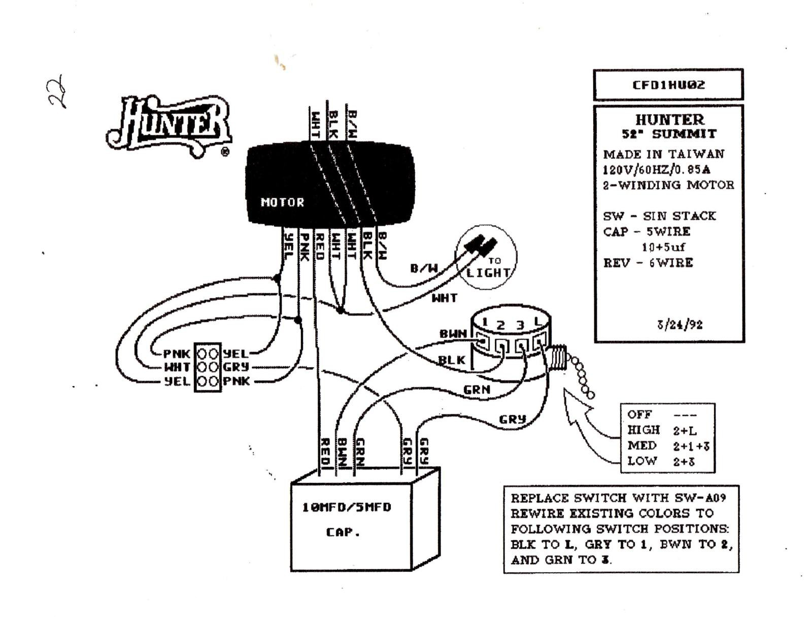 Diagram Hunter Ceiling Fan Speed Switch Wiring Diagram