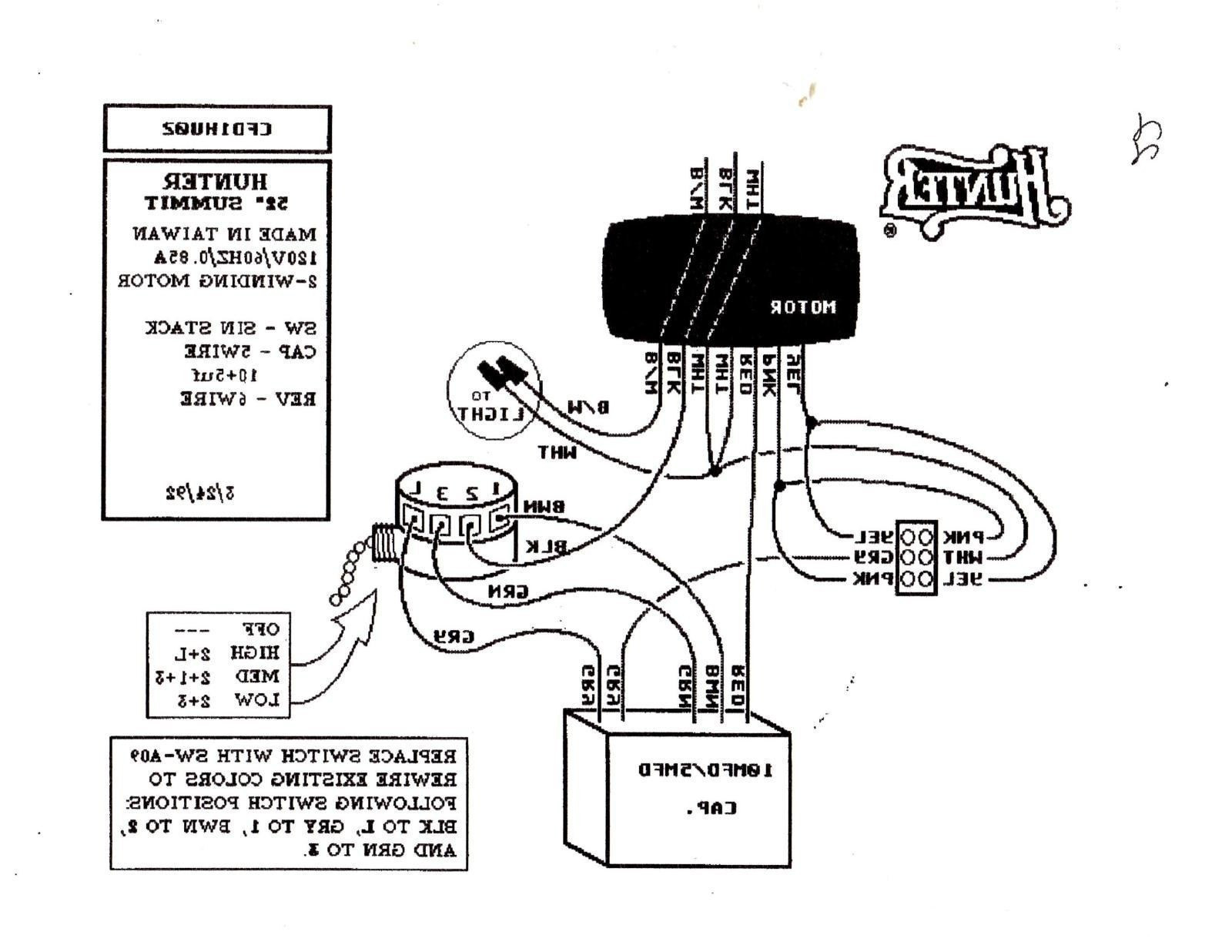 Hunter 3 Speed Fan Switch Wiring Diagram Sample