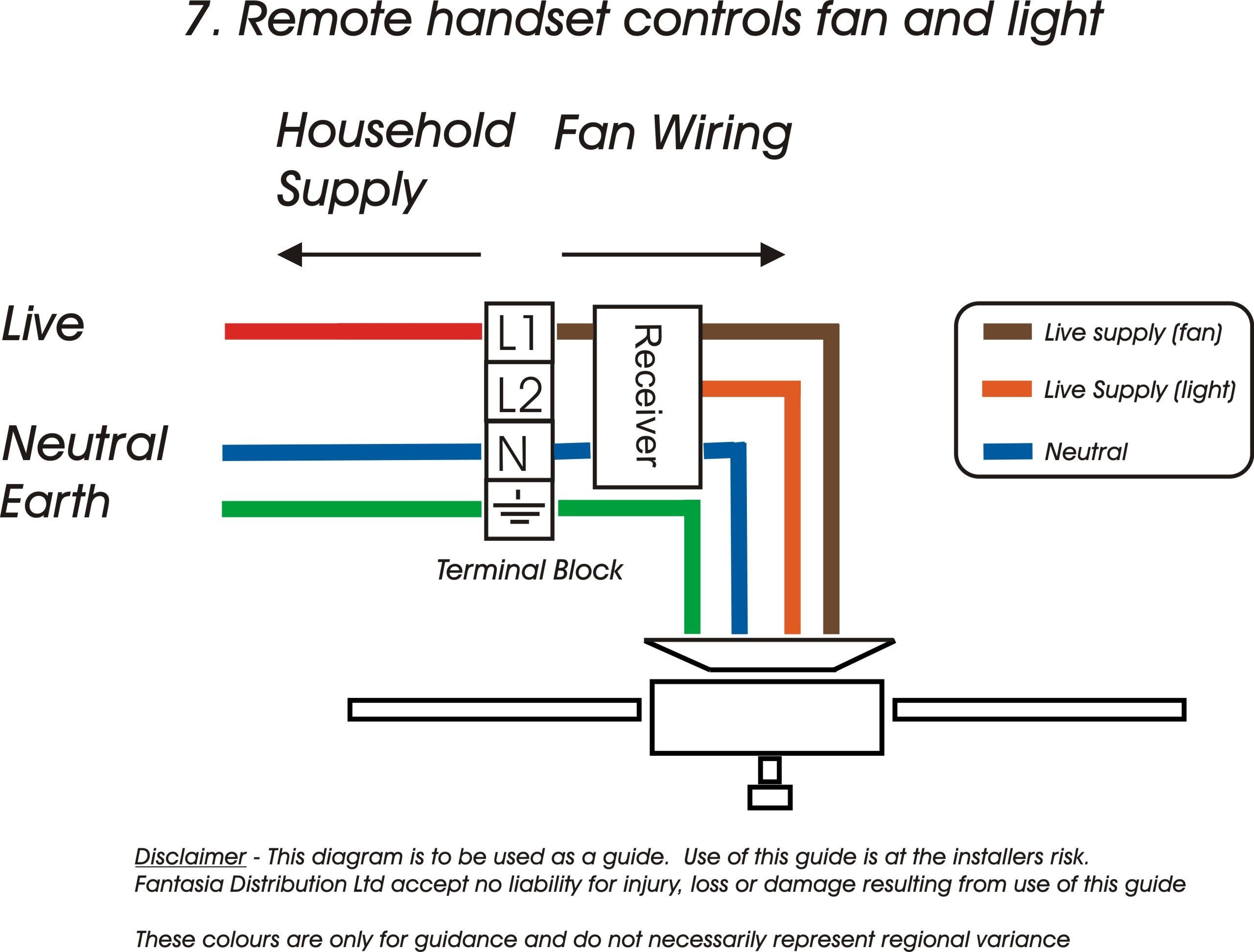 Hunter Ceiling Fan And Light Control Wiring Diagram Gallery