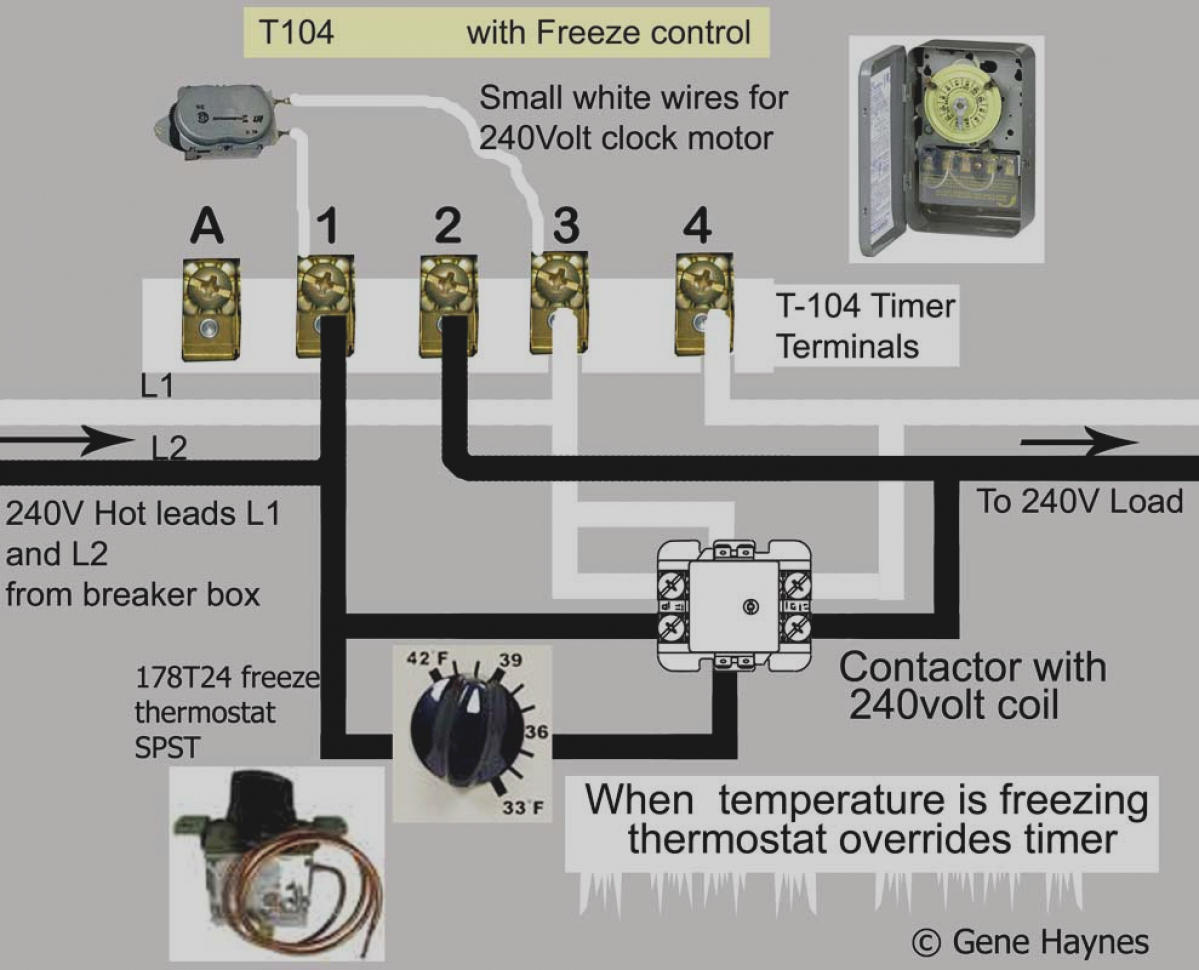 intermatic timer t104 wiring diagram Download-Collection T104m Timer Wiring Diagram White Neutral Wire How To Intermatic T104 And T103 T101 Timers 4-i