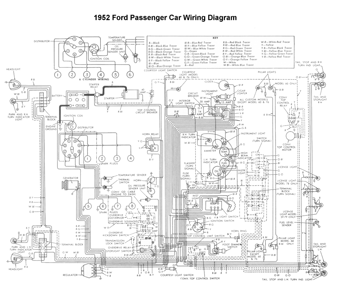 international truck wiring diagram Collection-Wiring for 1952 Ford Car 13-q