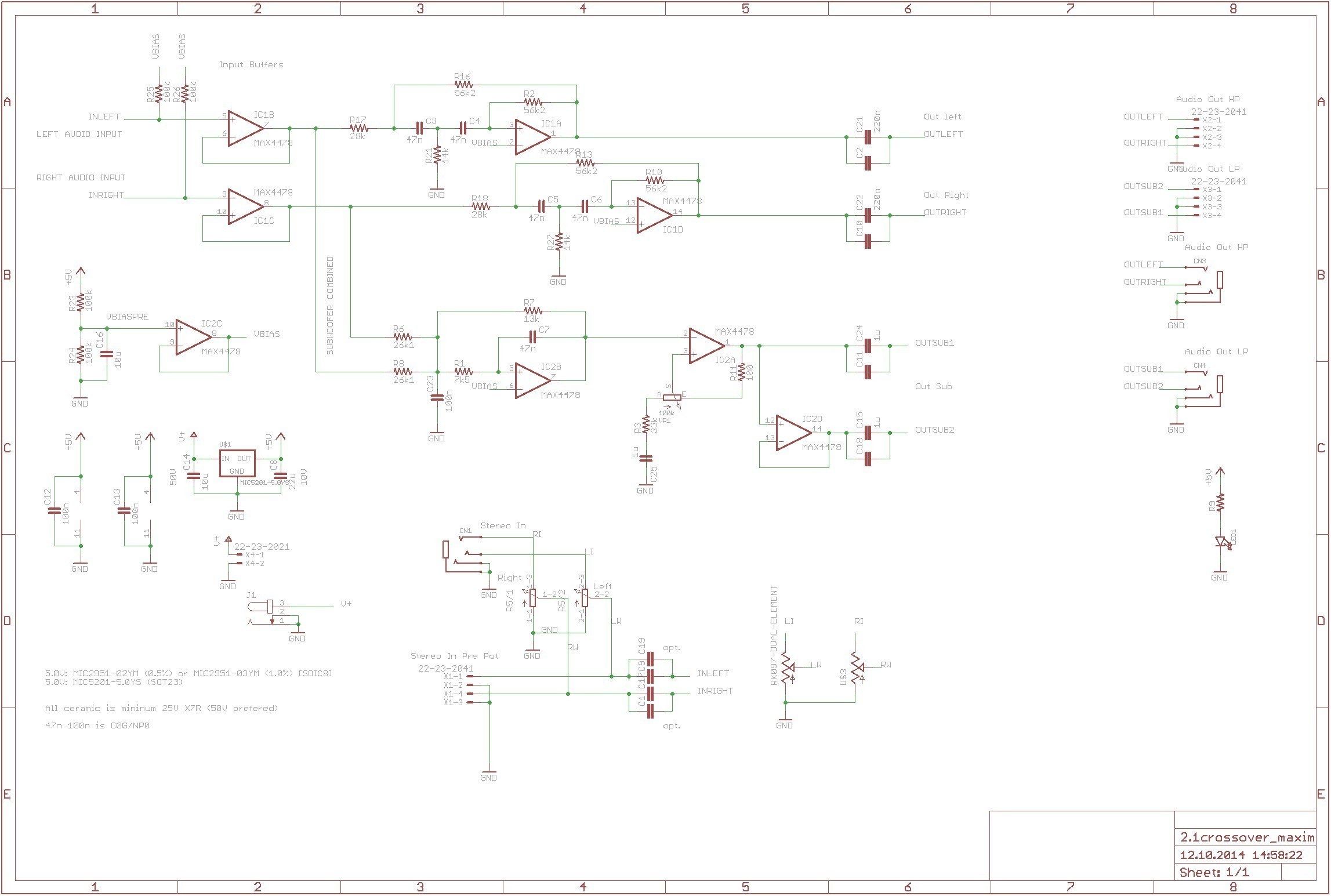 kitchen electrical wiring diagram Download-Kitchen Electrical Wiring Diagram Aktive Crossoverfrequenzweiche Mit Max4478 360customs Crossover Schematic Rev 0d Wiring Lighting 11-c