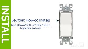 Legrand Paddle Switch Wiring Diagram - Leviton Presents How to Install A Single Pole Switch 5r