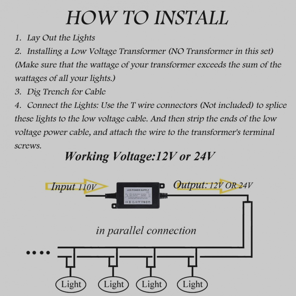 Low Voltage Landscape Lighting Wiring Diagram Gallery