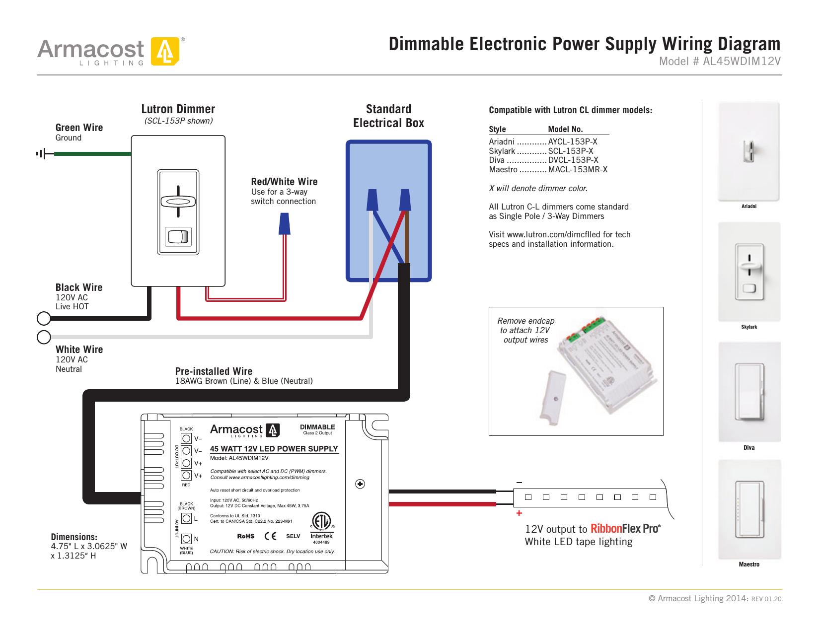 Lutron 3 Way    Led       Dimmer       Wiring       Diagram    Sample