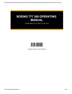Magnetek 6409 Wiring Diagram - Array Boeing 777 300 Operating Manual by Cynthialewis2154 issuu Rh issuu 20l