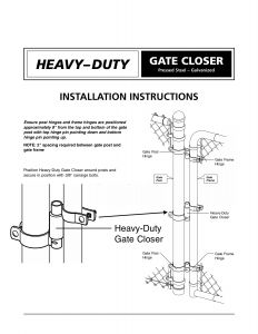 Mighty Mule Gate Opener Wiring Diagram - Mighty Mule Gate Opener Wiring Diagram Beautiful Chain Link Gate Spring Closer for 2 3 8&quot 15j