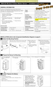 Motion Detector Wiring Diagram - Wiring Diagram for Outdoor Motion Detector Light Inspirational 8dl5800pir Od Security Transmitter User Manual 5890 Od Wireless 13a