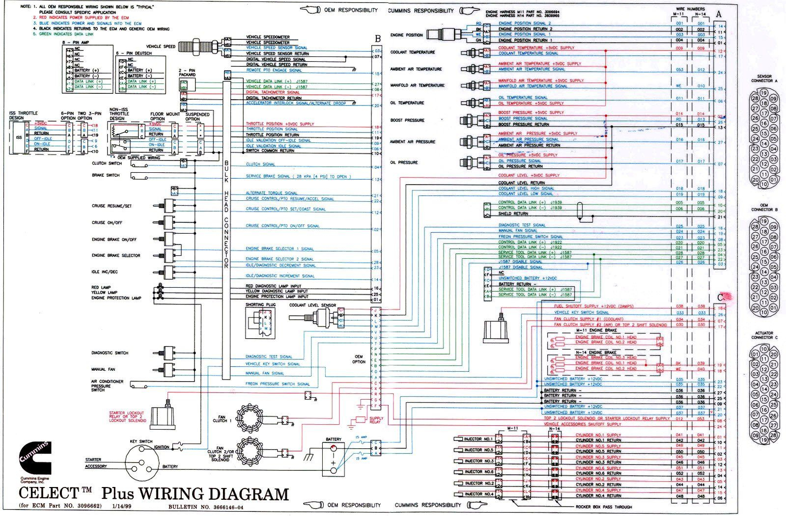 isx wiring diagram n14 cummins ecm wiring diagram download #7