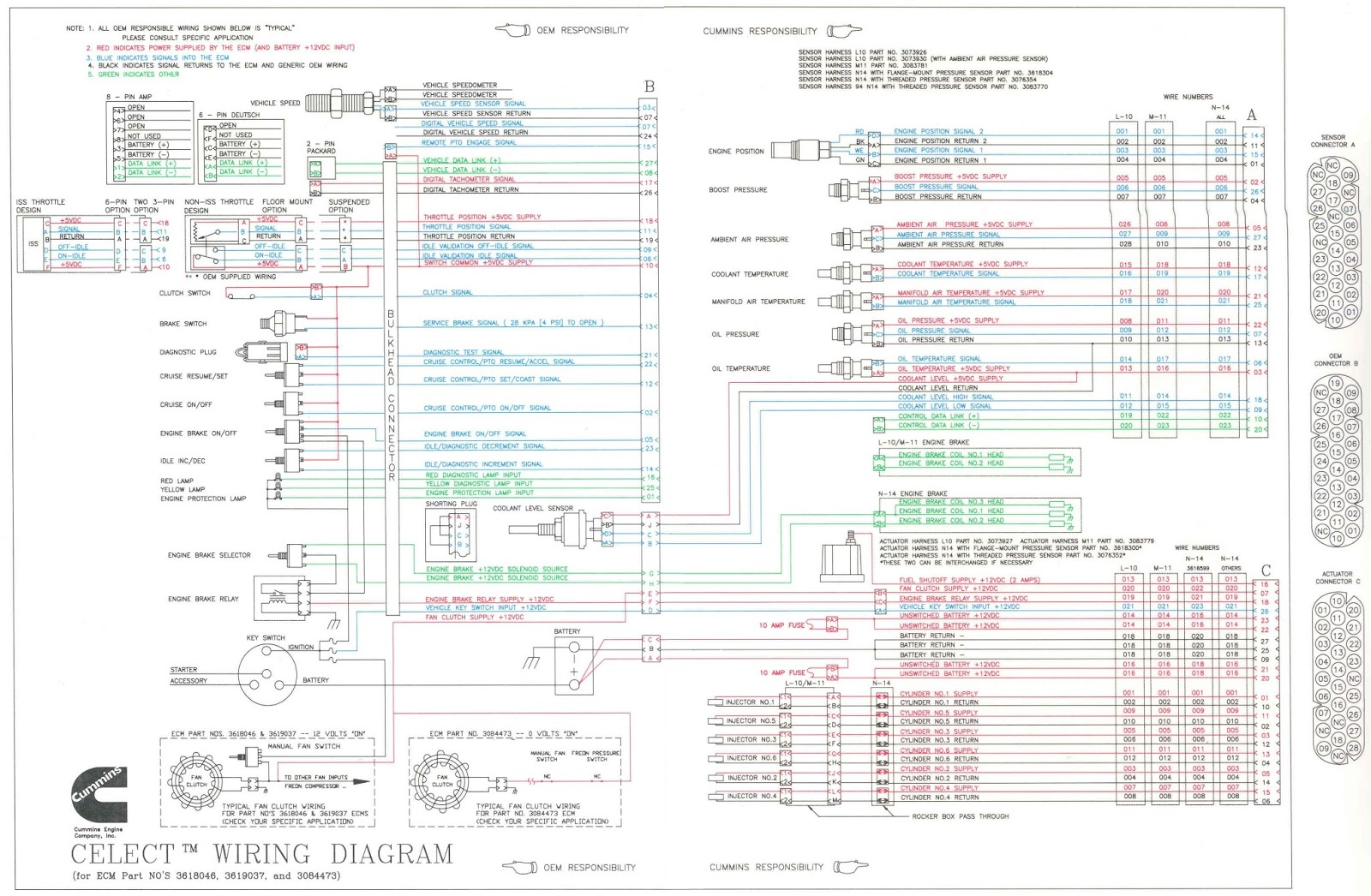 cummins n14 engine diagram wiring library Cummins N14 Wiring Schematic