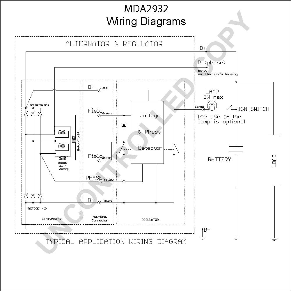 prestolite leece neville alternators wiring diagram Collection-MDA2932 Wiring Diagram 1-k