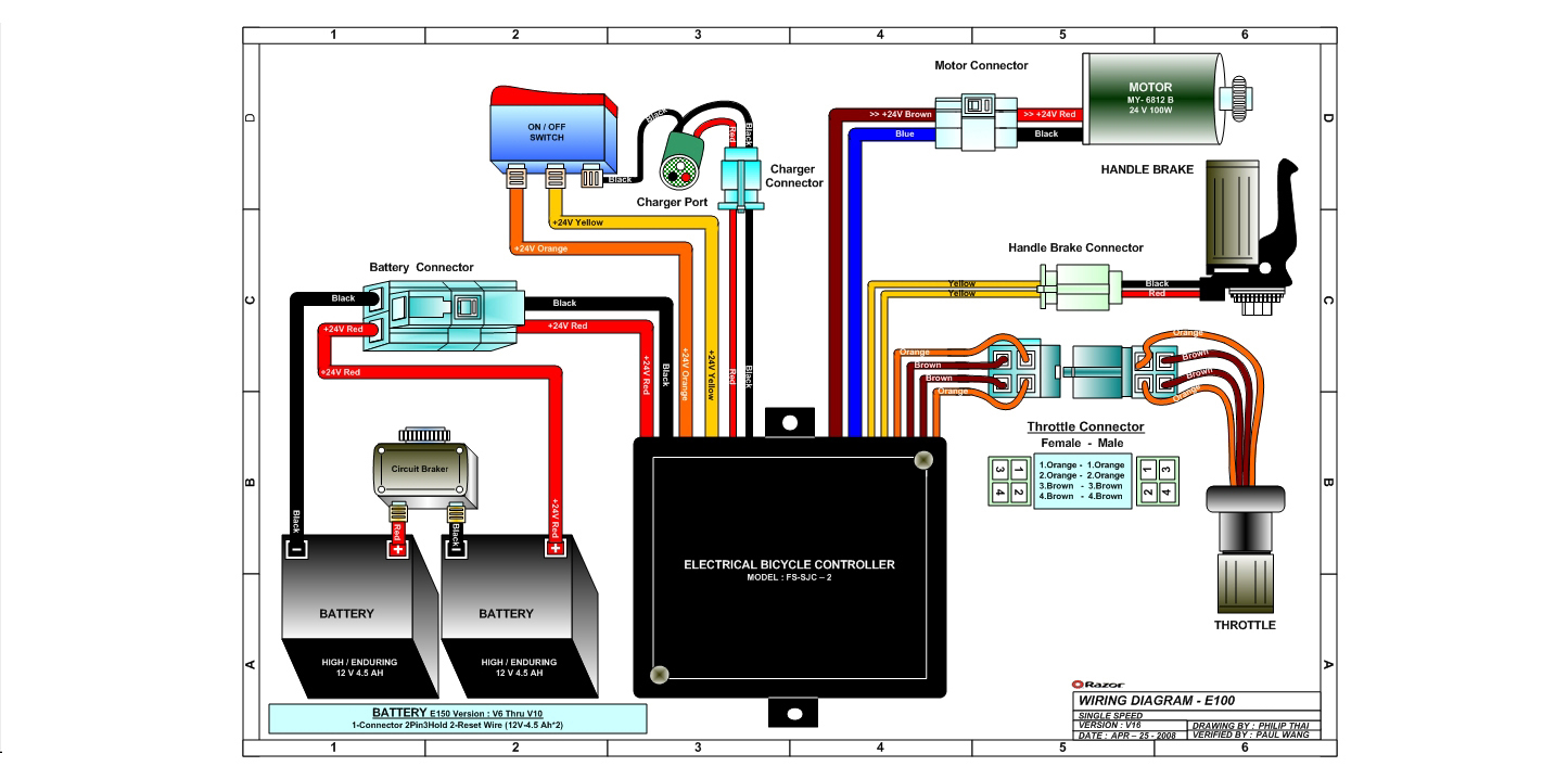 razor e100 wiring diagram Download-Razor Launch Wiring Diagram Version 16 5-k