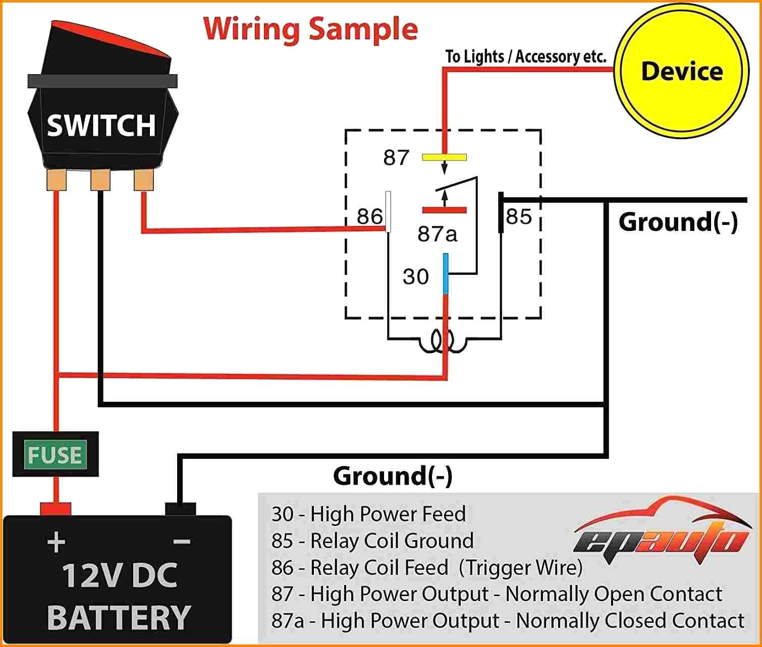 Diagram 12v Relay Wire Full