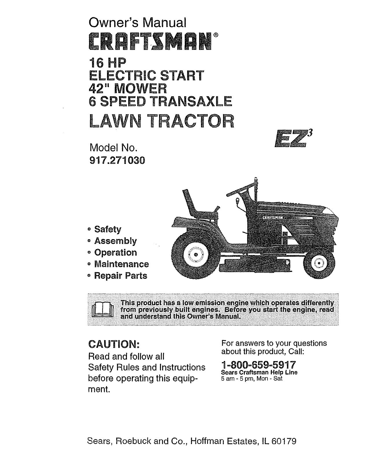 Wiring Diagram For Craftsman 917 276922 Riding Lawn Mower Circuit Fs5500 Tractor 19 Hp Schematic Electrical Sears