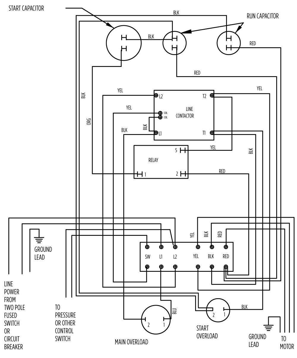 deep well pump motor control wiring diagram    wiring diagram