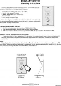 Somfy Blind Motor Wiring Diagram - Fits Into Standard Decora Wall Plates This is A Low Voltage Device which Does Not 19a