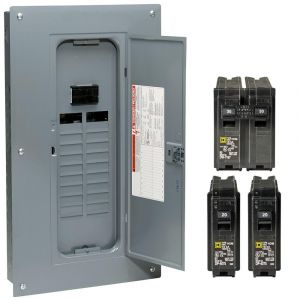 Square D Homeline Load Center Wiring Diagram - Homeline 100 Amp 20 Space 40 Circuit Indoor Main Breaker Qwik Grip Plug 8o