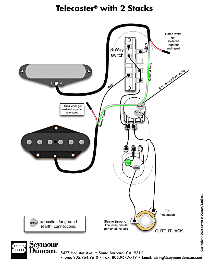 Standard    Telecaster       Wiring       Diagram    Sample