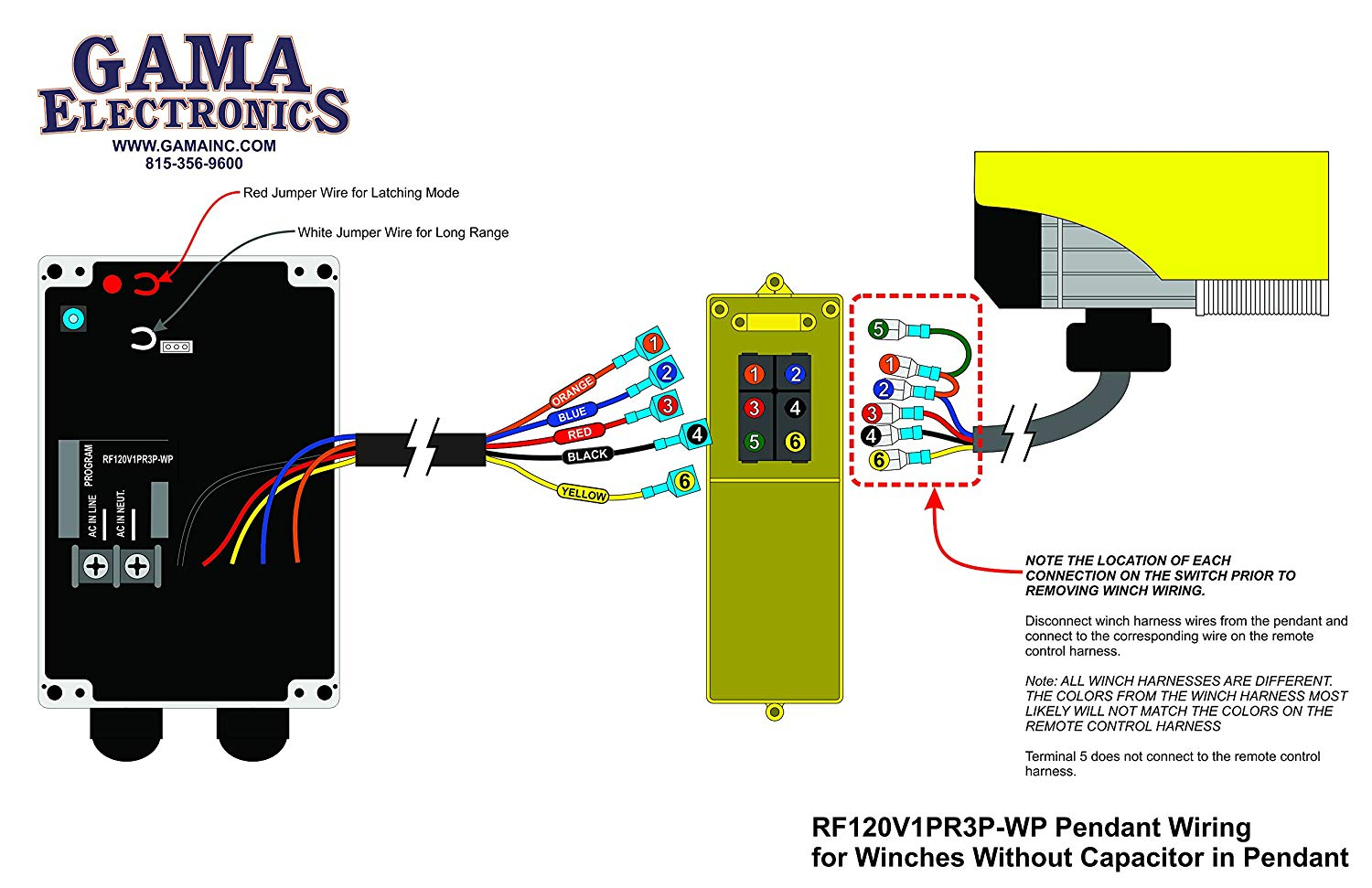 Strongway Electric Cable Hoist Wiring Diagram Sample Wire Rope Rf Remote Control For 120vac Pendant Controlled Hoists And