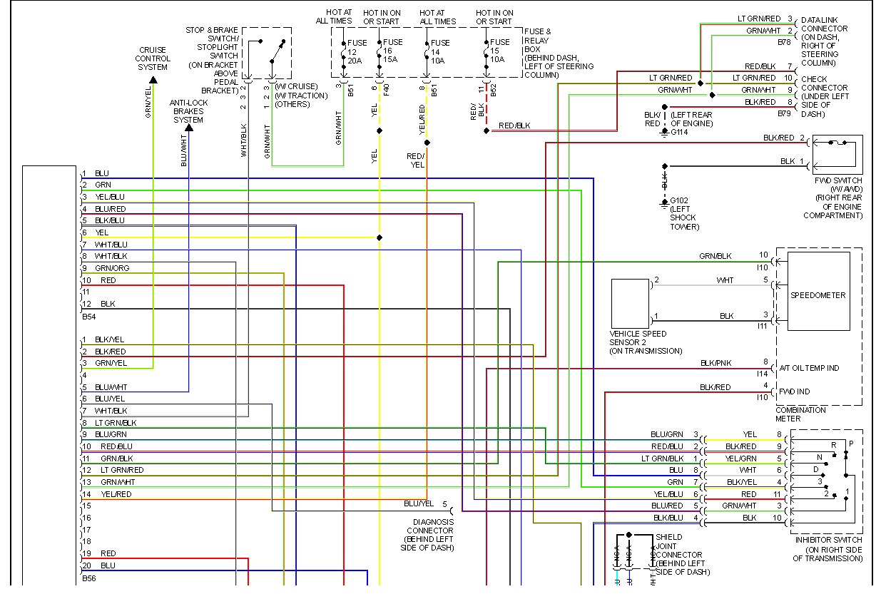 Subaru Wiring Colors - Technical Diagrams on