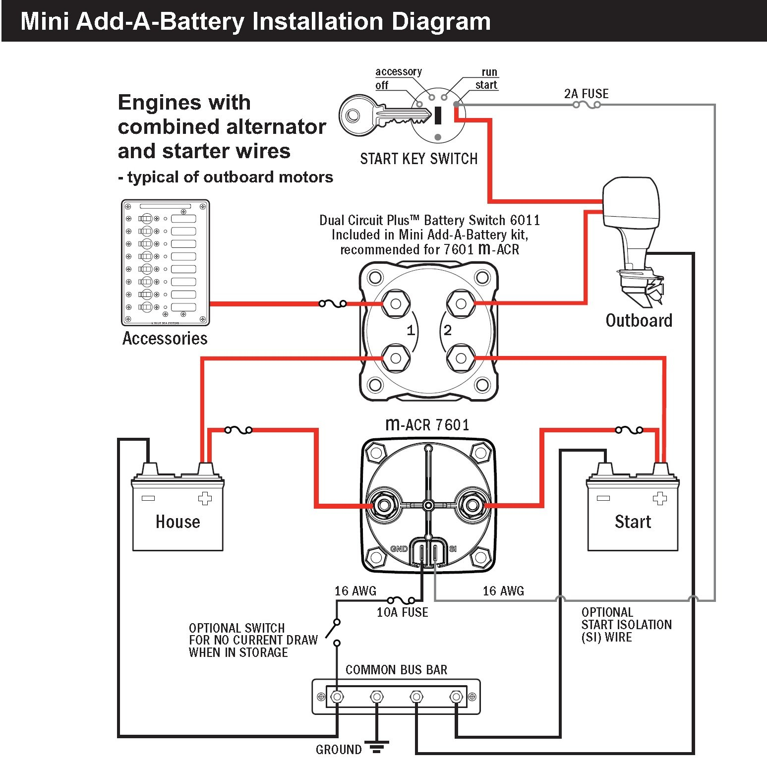 Sure Power Battery isolator Wiring Diagram - Sure Power Battery isolator Wiring Diagram Awesome Blue Sea