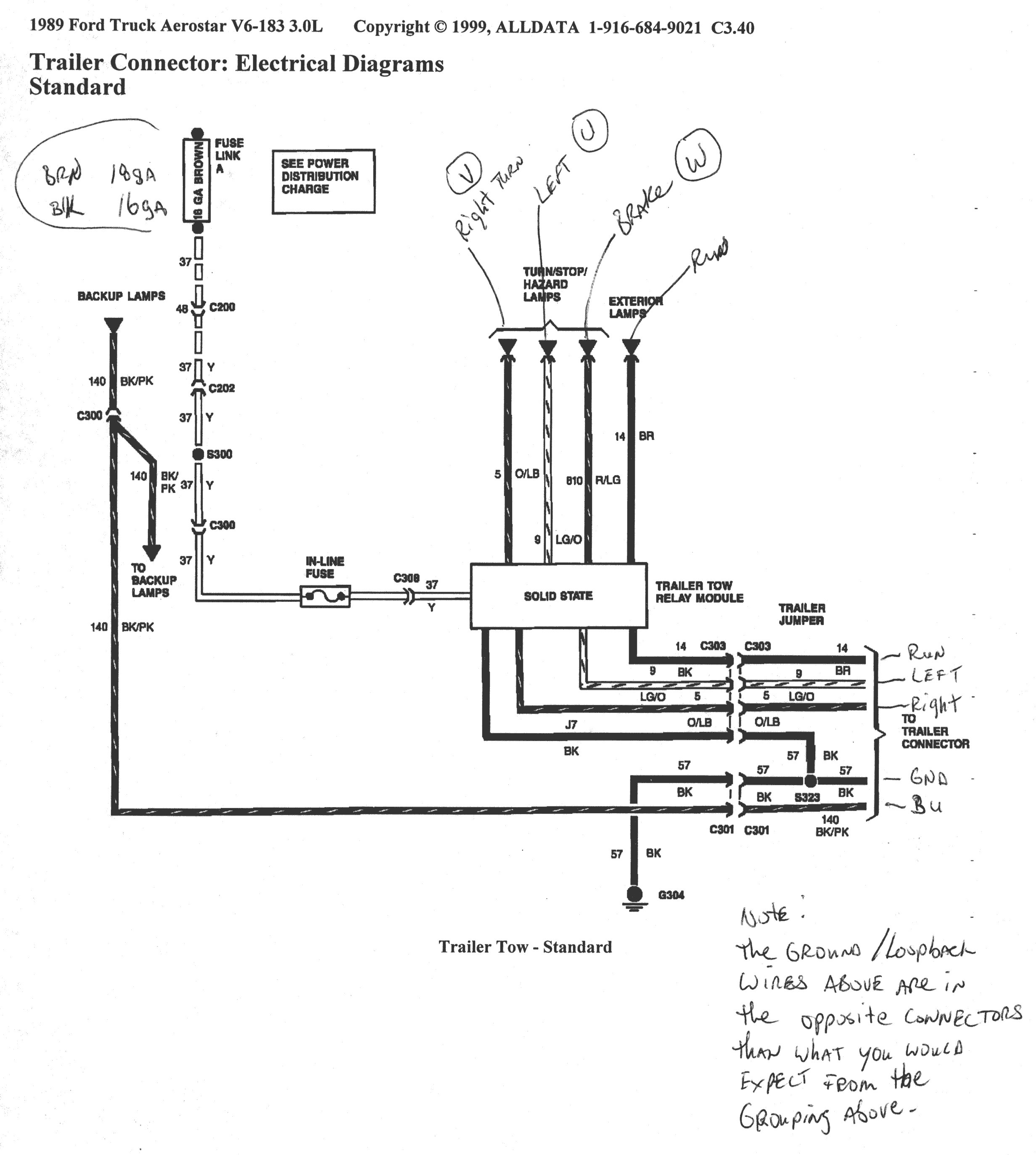 Trailer Wiring Harness Drawing - wiring diagram oline for ... on