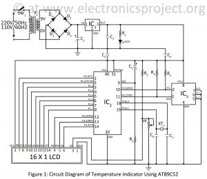 Temperature Controller Wiring Diagram - Circuit Diagram Of Temperature Indicator Using at89c52 13c