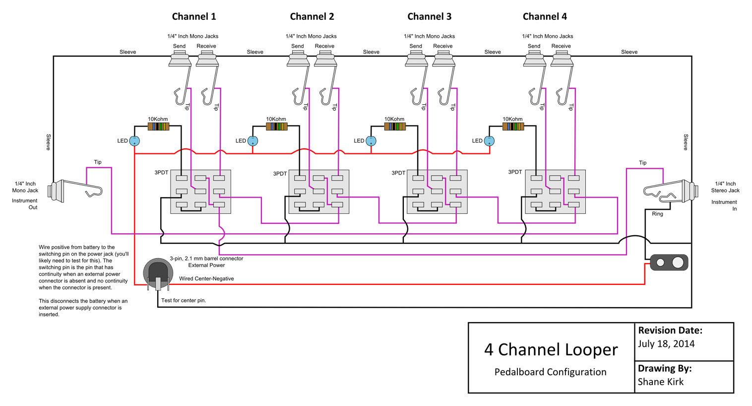true tuc 27f wiring diagram Download-True Bypass Looper Wiring Diagram 20-i