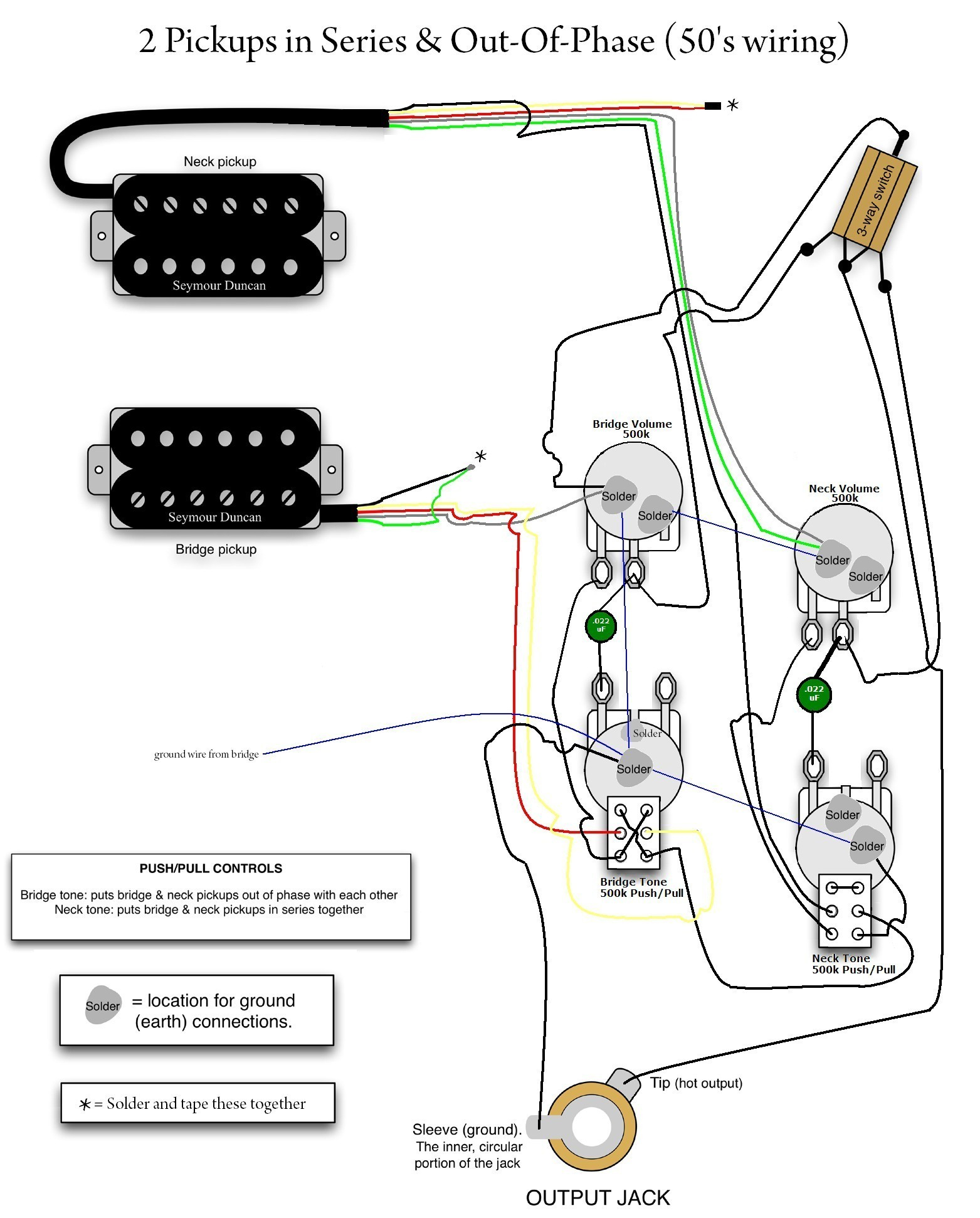 vintage les paul wiring diagram gallery rh wholefoodsonabudget com Epiphone  Les Paul Gibson Guitar Wiring Diagrams