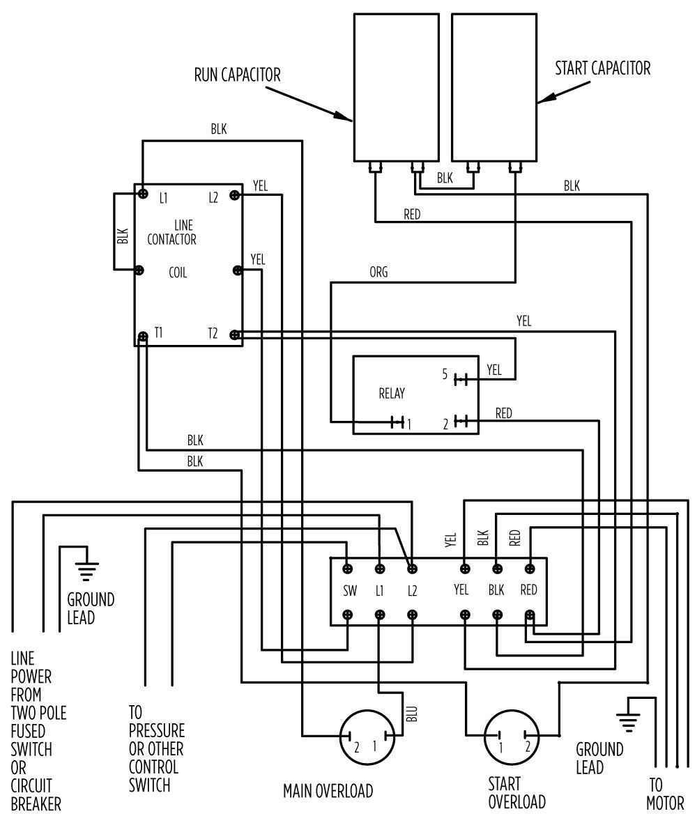 3 Wire Contactor Wiring Diagrams