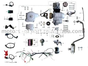 Wiring Diagram for 110cc 4 Wheeler - Coolster 110cc atv Parts Furthermore 110cc Pit Bike Engine Diagram Along with Coolster 125cc atv Wiring Diagram and Razor E300 Electric Scooter Wiring 10f