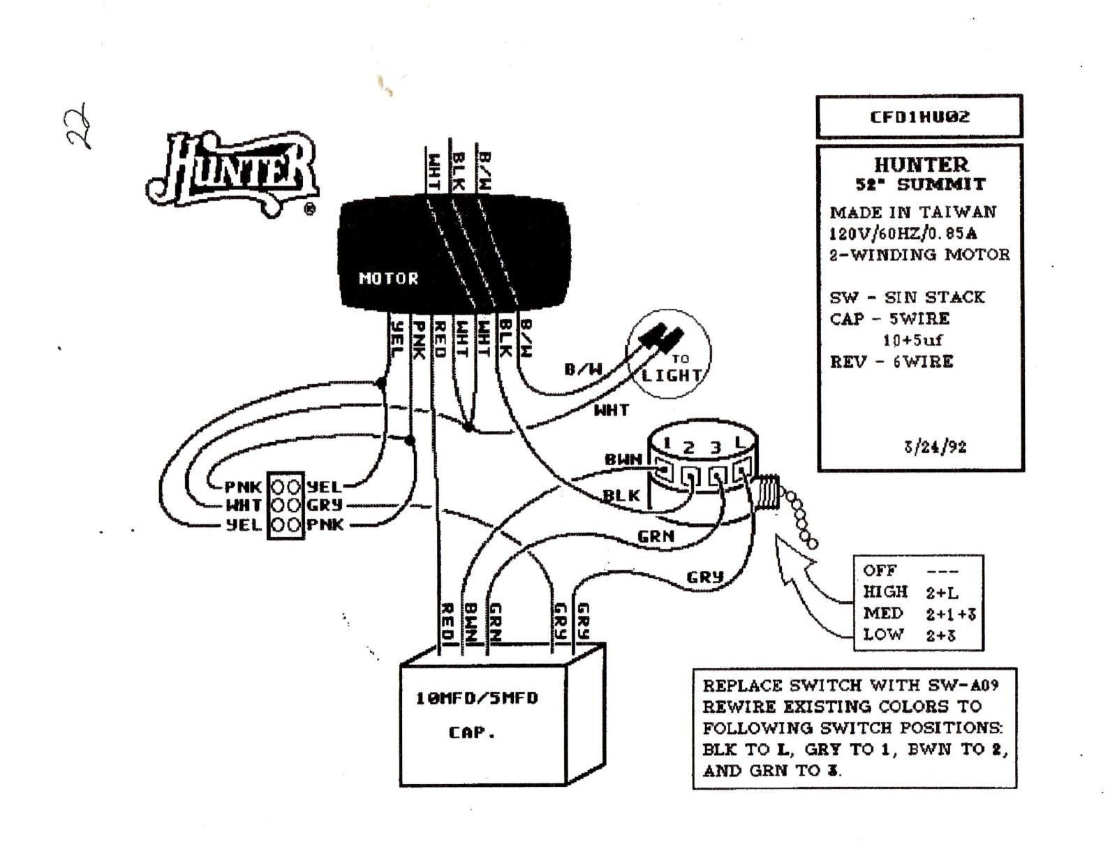 Diagram Wiring Diagram For Hunter Ceiling Fan