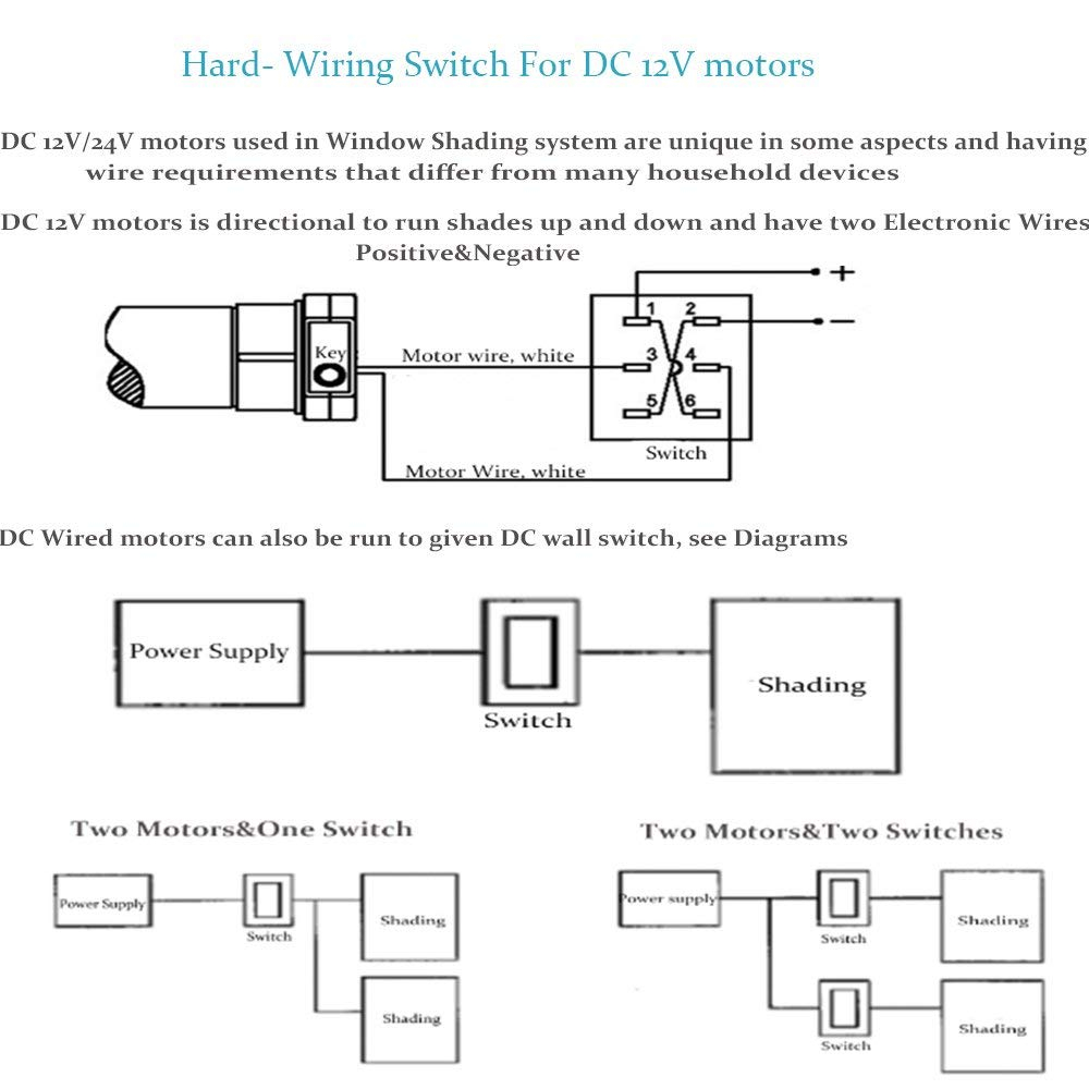 wiring diagram for motorized blinds Collection-Amazon Rollerhouse Electric Roller Blind Shades with 16mm Tubular Motor Kit Hard wired Switching for 12v DC motors Suit for 1 1 inch Roller Tube 1-b