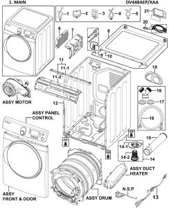 Wiring Diagram for Samsung Dryer Heating Element - 15s
