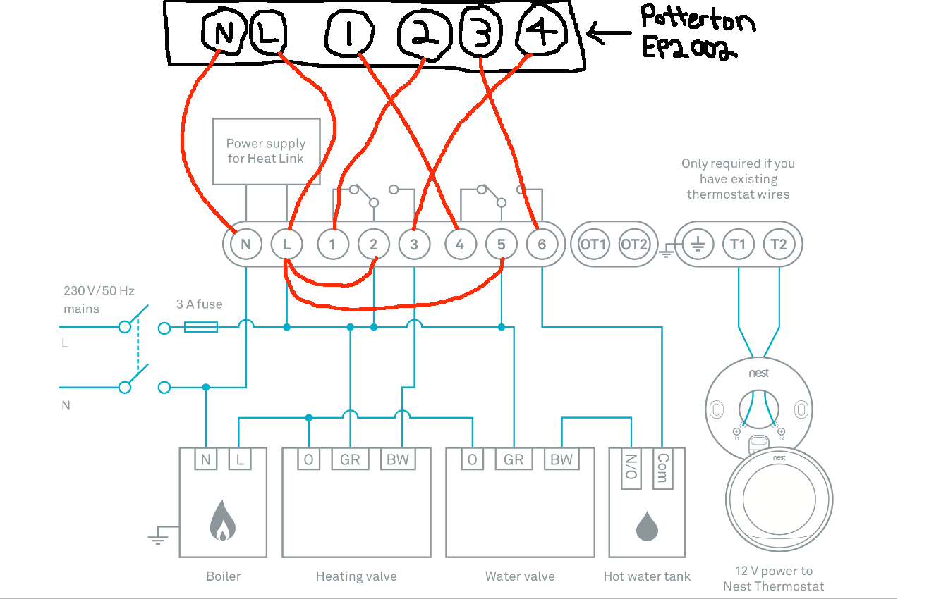 Diagram Wiring Diagram For The Nest Thermostat Collection