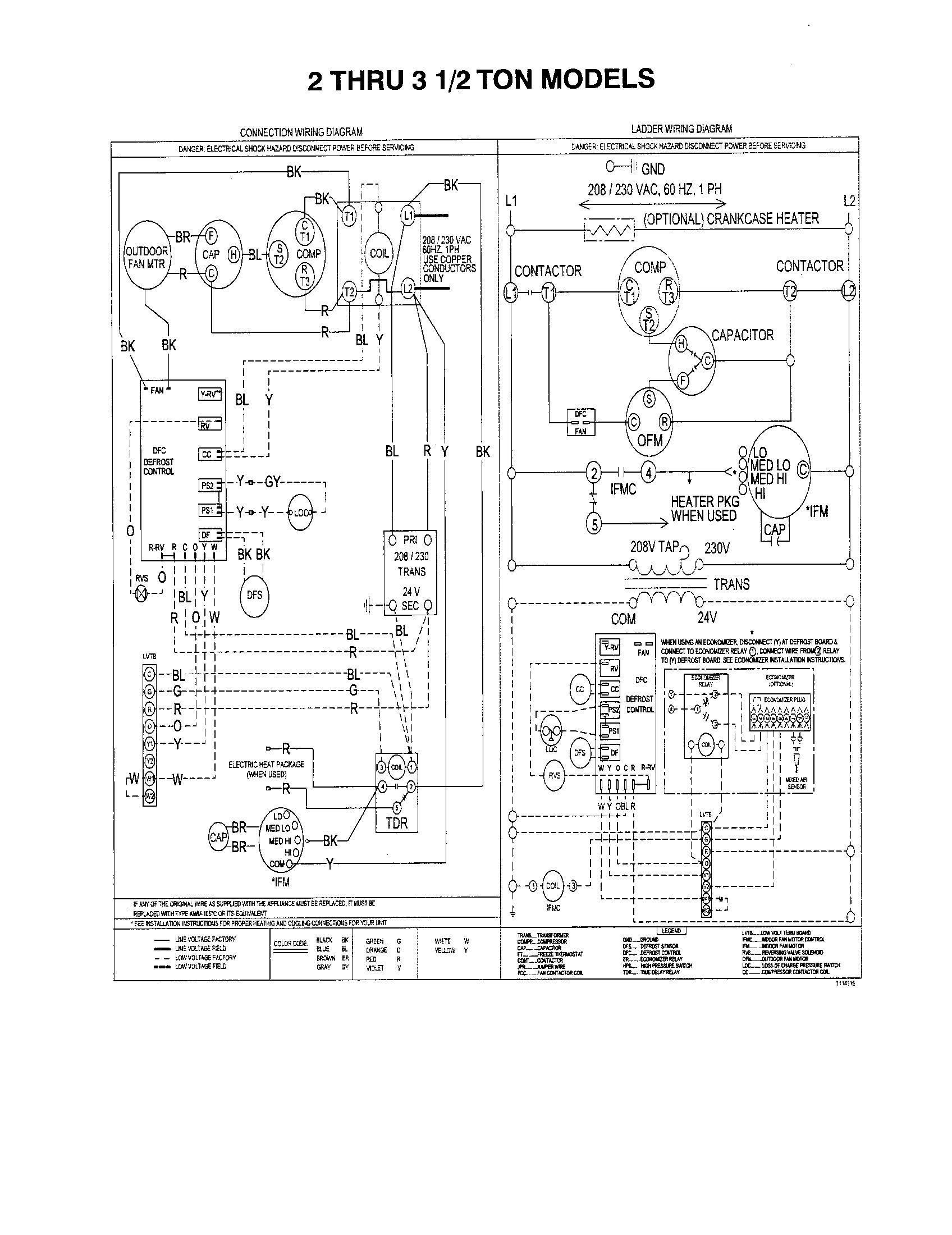 Trane Condensing Unit Wiring Diagram - Wiring Diagrams Blogpalox-france.fr